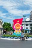 Patriotyczny sztandar w Hanoi, Wietnam Zdjęcia Stock