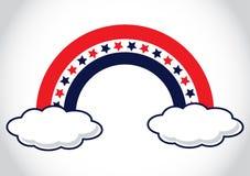 Patriotyczny tęcza kształt Fotografia Stock
