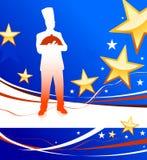 patriotyczny tło szef kuchni ilustracji