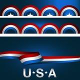 Patriotyczny tło sztandaru set ilustracja wektor