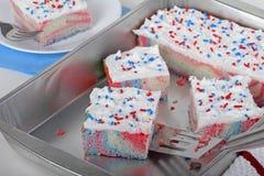 Patriotyczny tort zdjęcie stock