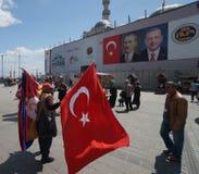 Patriotyzm i prowadzić kampanię w Istanbuł, Turcja fotografia royalty free