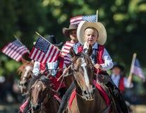 Patriotyzm Na świder drużynie fotografia stock