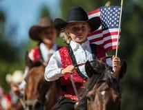 Patriotyzm Na świder drużynie zdjęcie stock