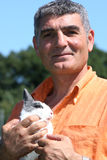 Patrizio Oliva with a rabbit Stock Images