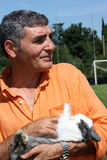 Patrizio Oliva with a rabbit Stock Photo