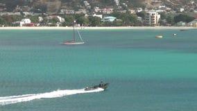 Patro boat in St Maarten stock video