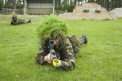 On patrol. 2 UK soldiers on patrol Stock Image