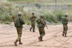 Patrol. Israeli soldiers in patrol Royalty Free Stock Images