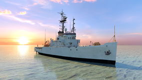 Patrol boat Royalty Free Stock Image