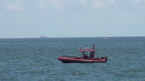 Patrol boat near Port Everglades, Florida Stock Photos