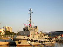 Patrol boat. The patrol ship in the port of Bar in Montenegro Royalty Free Stock Images