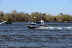 Patrol boats on the river Moscow. Stock Photography
