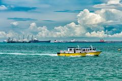 Patrol Boats in Singapore royalty free stock photography