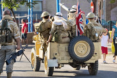 Patrol British army soldiers Royalty Free Stock Images
