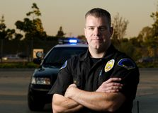 Patrol cop Stock Images