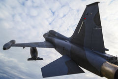 On Patrol -  Fighter Jet in Midair. Royalty Free Stock Photography