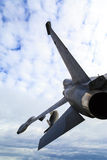 On Patrol -  Fighter Jet in Midair. Royalty Free Stock Images