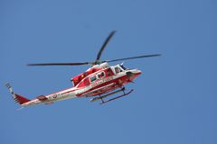 Patrol helicopter of firefighters Royalty Free Stock Image