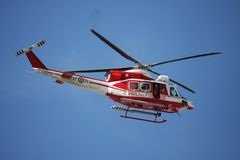 Patrol helicopter of firefighters Royalty Free Stock Images