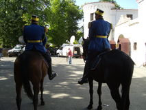 Patrol on horseback Royalty Free Stock Images