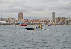 Boats Sailing On Patrol At Sea - Police Launch Guardia Royalty Free Stock Image