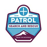 Patrol, search and rescue label Stock Photo