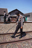 Patrolled the railroad Stock Photography