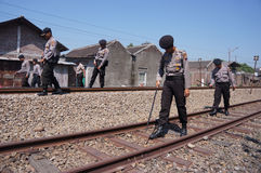 Patrolled the railroad Royalty Free Stock Image