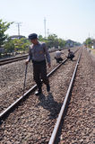 Patrolled the railroad Stock Image