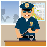 Patrolman in the police station Stock Photo