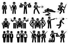 Patron de Mafia et activités criminelles Photographie stock libre de droits