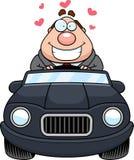 Patron Driving Love de bande dessinée Photos libres de droits