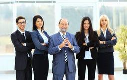 Patron et équipe d'affaires Photo stock
