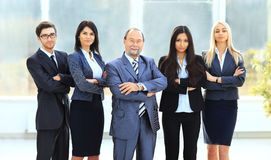 Patron et équipe d'affaires Image libre de droits