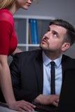 Patron et secrétaire confus Photo libre de droits