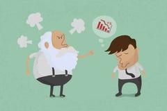 Patron fâché avec l'employé illustration libre de droits