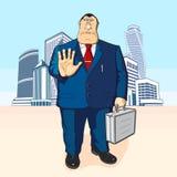 Patron ou homme d'affaires Édifices hauts illustration libre de droits