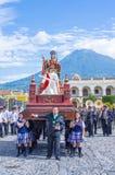 The Patron Saint of Antigua procession Royalty Free Stock Photo