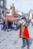 The Patron Saint of Antigua procession. ANTIGUA , GUATEMALA - JULY 25 : The Patron Saint of Antigua annual procession in Antigua Guatemala on July 25 2015. Every Royalty Free Stock Photos