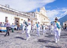 The Patron Saint of Antigua procession. ANTIGUA , GUATEMALA - JULY 25 : The Patron Saint of Antigua annual procession in Antigua Guatemala on July 25 2015. Every Stock Image