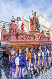 The Patron Saint of Antigua procession Stock Images