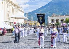 The Patron Saint of Antigua procession. ANTIGUA , GUATEMALA - JULY 25 : The Patron Saint of Antigua annual procession in Antigua Guatemala on July 25 2015. Every Stock Photos
