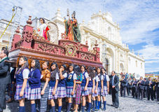 The Patron Saint of Antigua procession Royalty Free Stock Photography