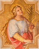 Patrona de Viena - de St Cecilia de músicos de Josef Kastner el más joven a partir del 20 centavo en la iglesia Muttergotteskirch foto de archivo libre de regalías