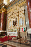 Patrona Hungariae altare royaltyfri bild