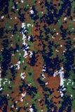Patronen en kleuren op de stof Samenvatting stock foto