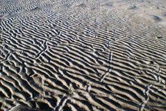 Patronen in het zand Royalty-vrije Stock Fotografie