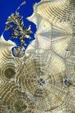 Patronen in kristallen royalty-vrije stock foto's