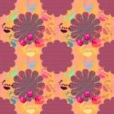 Patronen met geometrische vormen multicolored tulpen feestd Stock Foto's